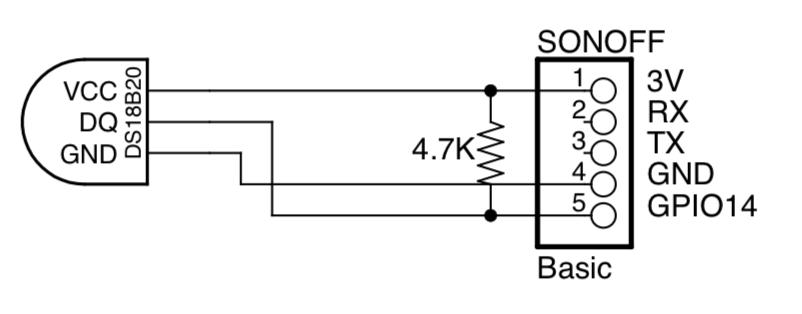 Temperature Sensor with Sonoff Basic - KnowledgeBase - wiki jmehan com
